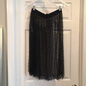 Zara sheer beaded skirt